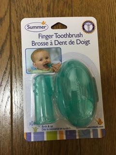 指にはめる歯ブラシ